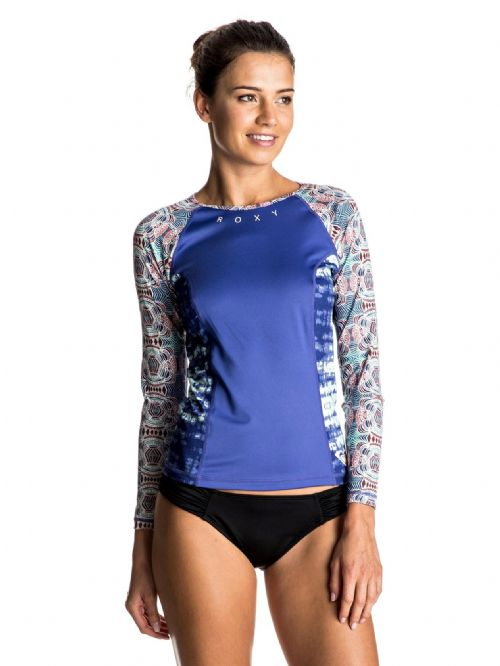 ROXY WOMENS RASH VEST.FOUR SHORE UPF50+ SUN PROTECTION T SHIRT TOP 7S 3129 WBT6